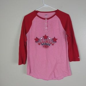 Ole Miss Raglan Shirt with Disco Retro Lettering
